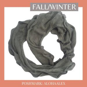Accessories - GRAY KNIT SCARF FOR FALL/WINTER